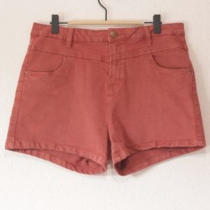 Cotton On Cider Red Denim Shorts
